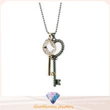 Jóia da forma da forma da chave Jóias Colar da jóia da prata esterlina da jóia da forma elevada da mulher 925 (N6663)