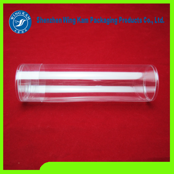 clear plastic tube round container