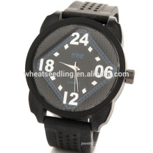 2015 Hot black silicon rubber sports watch for boys