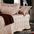 Quilted bed sheet and 2pcs pillow cases elegant&classical bed cover