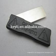 Placa de plástico magnética titular de la insignia