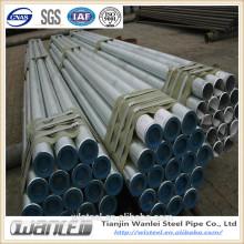 Astm a53 schedule 40 tubo de aço galvanizado ou preto