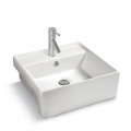 Factory supplier bathroom hand wash basin square modern style home usage above counter basin