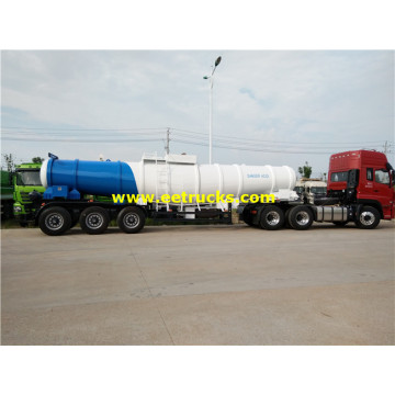 19000 Liters V Shape H2SO4 Trailer Tanks
