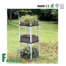 Del medio ambiente flor terraza / cama madera flor de compuesto de plástico caja de flores