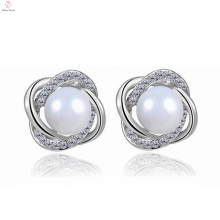 Factory Supply Freshwater Pearl Silver 925 Sterling Stud Earring