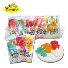 Halal Jelly Lollipop Cartoon Shape Jelly Soft Lollipop