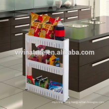 Slim Slide Out pantry Storage Tower for Laundry and Bathroom and Kitchen