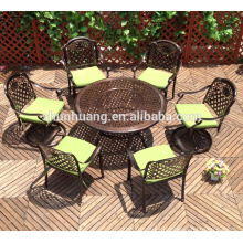 outdoor beach furniture dining sets balcony metal chair and round table
