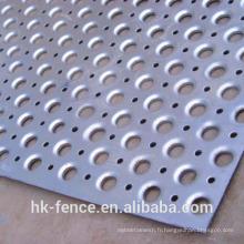 Treillis métallique perforé
