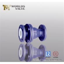 Válvula de retenção revestida de PFA (WDS)
