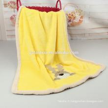 Couvertures de flanelle super doux chaud Embroiered bébé