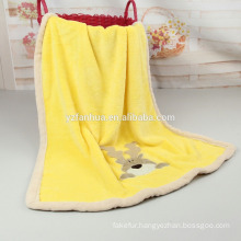 Super Soft Flannel Warm Embroiered Baby Blankets