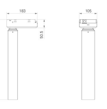 Column for adjustable desk UA3-1a