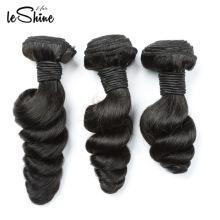 Extensión rusa brasileña del pelo de la extensión del pelo de la Virgen del pelo de Leshine