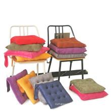 Amazon hot sale Crystal velvet square strap cushion non-slip warm chair cushion