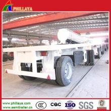 2 essieux lit plat 20FT Container Transport timon remorque