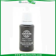 Getbetterlife 2014 puro maquillaje pigmentos, pigmentos de tatuaje de ceja eyeline labio, marrón Chocolate maquillaje permanente de tinta