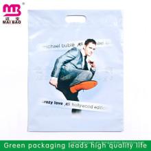 Impresión multicolor más barata Die Cut Patch Handle Biodegradable Bolsa de plástico