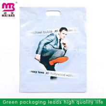 Cheapest multicolor printing Die Cut Patch Handle Biodegradable Plastic Bag