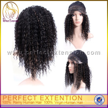 БДХ товар афро кудрявый Индийский Реми волосы парик фронта шнурка Оптовая