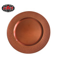 Rose Gold Plastic Plate with Metallic Finish