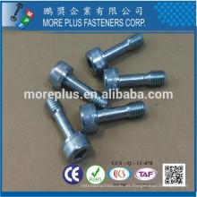 Fabricado en Taiwán 8.8 Grado Zinc plateado CR3 + 5 um / mn DIN 912 Especial Hex Socket Flat Head Bolt