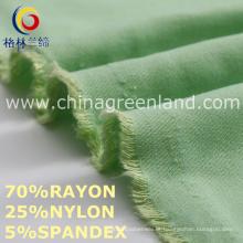 Rayon Nylon Spandex Twill tecido para calças têxteis (GLLML456)