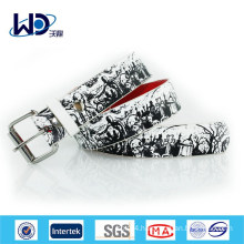 2014 Fashion men Print PU Belt for jean