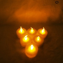 To UAS Led Tealight Candle Yellow Light Flickering