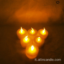 A UAS Led Tealight Candle Flickering a luce gialla