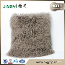 Le meilleur oreiller décoratif de fourrure d'agneau mongol tibétain