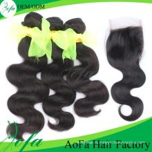 Высокое Качество Бразильские Волосы Выдвижения Человеческих Волос Девственницы Волос Remy