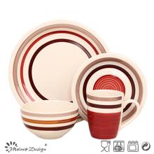 16PCS de haute qualité en céramique peint à la main dîner ensemble