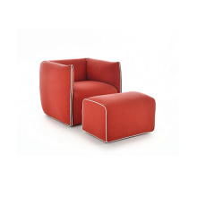 Italia Mia Single Linen Upholstered Armchair Sofa