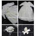 Diseños de bautismo de bebé infantil nuevos diseños Patrones con sombreros y mangas Vestidos de cumpleaños de bebé niña