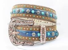Cowgirl western rhinestone belt with fashion accessories and conchos