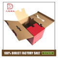 China new recyclable custom color paper glassware packaging box