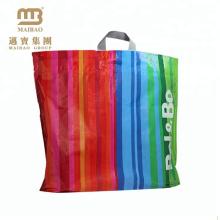 Logotipo feito sob encomenda biodegradável do saco de plástico da compra do punho de Flexiloop do preço de venda por atacado impresso