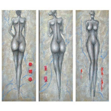 Original Beautiful Abstract People Oil Painting