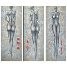 Оригинальные красивые абстрактные люди масляной живописи