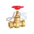 Brass compression gate valve for copper tube