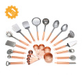 Rose gold handle 8pcs high grade stainless steel kitchen gadgets tools