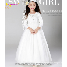 Beautiful Baby Girls 2015 Hot Sell Kids White Wedding Princess Flower Girl Dresses High Quality