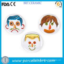 Interessante DIY alimentos porcelana crianças Face Plate