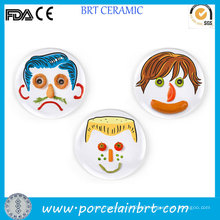 Interesting DIY Food Porcelain Children Face Plate