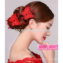unique chinese wedding bridal flower teenage hair accessories
