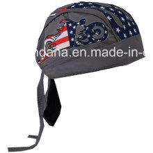 OEM Produce logotipo personalizado impreso Promocional Deportes al aire libre Deportes cráneo Biker Cap Headwrap