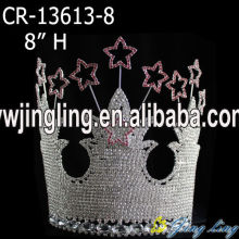 Rhinestone Big Castle And Star Pageant Crown