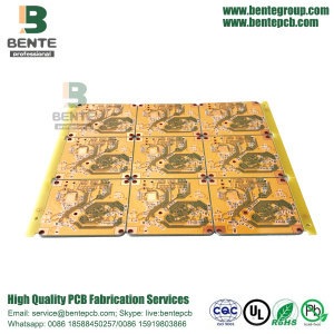 4Layers PCB FR4 Tg150 High-precision Multilayer PCB Yellow